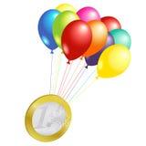 Euro flying royalty free illustration
