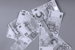 Euro fond de billets de banque Image stock