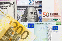 Euro fond de billets de banque Photos stock
