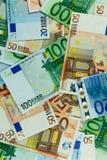 Euro fond de billets de banque d'argent - verticale Image libre de droits