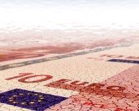 Euro fondo del deserto Immagine Stock Libera da Diritti