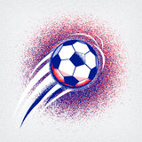 Euro 2016 football championship background with ball and france flag colors. Roughness texture. Euro 2016 France football championship with ball and france flag Stock Photos