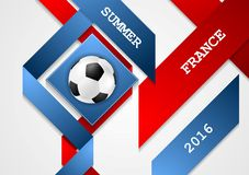 Euro Football Championship in France corporate design Royalty Free Stock Photos
