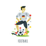 Euro 2016. Football championship. German player with ball Stock Image