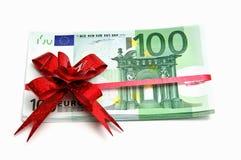 Euro für Geschenk Lizenzfreies Stockbild