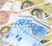 Euro franc Images libres de droits