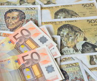 Euro franc Photographie stock