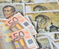 Euro franc Photographie stock