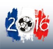 Euro 2016 France banner. Vector Stock Photography