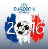 Euro 2016 France banner. Royalty Free Stock Photos