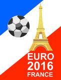 Euro 2016 France football championship Royalty Free Stock Images