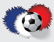 Euro 2016 France football championship. Euro France football championship with soccer ball and france flag colors Stock Photography