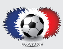 Euro 2016 France football championship. With soccer ball and france flag colors Royalty Free Stock Photography