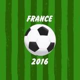 Euro 2016 France football stock illustration
