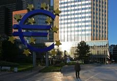 Euro in Frankfurt Royalty Free Stock Photos