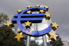 euro Frankfurt loga magistrala Obrazy Stock