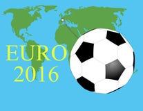 EURO Frankreich 2016 lizenzfreie abbildung