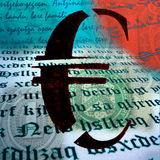 Euro fratturato Fotografia Stock Libera da Diritti