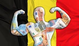 Euro fuerte de Bélgica Imagen de archivo libre de regalías