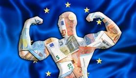 Euro fuerte de Europa ilustración del vector