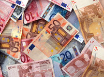 Euro- fundo foto de stock royalty free