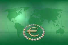 Euro- fundo Fotografia de Stock Royalty Free