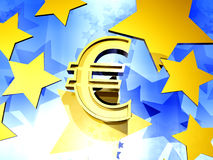 Euro- fundo Imagem de Stock Royalty Free