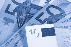 Euro- fundo abstrato do dinheiro fotografia de stock royalty free