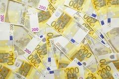 Euro- fundo das notas de banco Foto de Stock Royalty Free