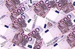 Euro- fundo das notas de banco Imagens de Stock