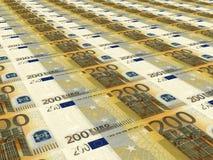 Euro- fundo Dois cem euro Fotografia de Stock