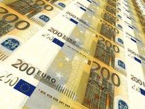 Euro- fundo Dois cem euro Imagem de Stock