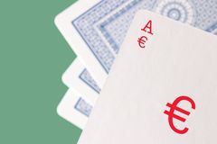 Euro gamble Royalty Free Stock Photography