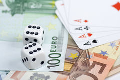 Euro gambling Royalty Free Stock Images