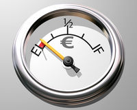 Euro gauge Stock Photography