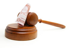 Euro gavel Stock Image