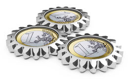 The euro gearwheel concept Royalty Free Stock Photos