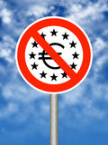 Euro-gebied in problemen Stock Afbeelding