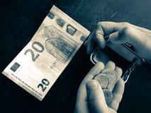 Euro geld royalty-vrije stock fotografie