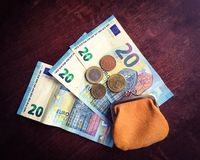Euro geld stock foto's