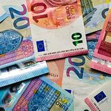Euro geld stock foto