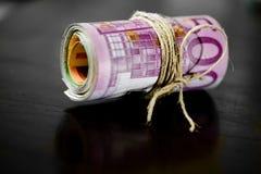 Euro geld - bankbiljetten Stock Foto's