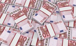 10 euro Geld euro contant geldachtergrond Euro geldbankbiljetten Vector Illustratie