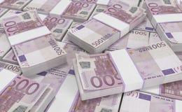 euro geld 500 euro contant geldachtergrond Euro geldbankbiljetten stock illustratie