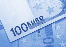 Euro geldachtergrond Royalty-vrije Stock Foto's