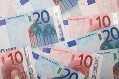 Euro geldachtergrond Stock Afbeelding