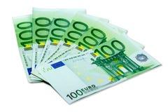 Euro geldbankbiljetten Stock Foto's