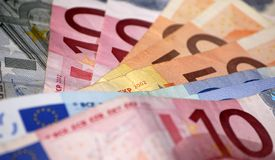 Euro geldbos Stock Afbeeldingen