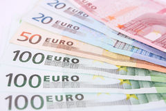Euro gelddetail royalty-vrije stock afbeelding