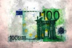 100 euro geldimpressionisme Royalty-vrije Stock Foto's